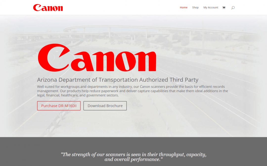 Canon ADOT Authorized Third Party
